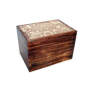 Wooden Cremation Keepsake For Adult, Wood Ashes Casket