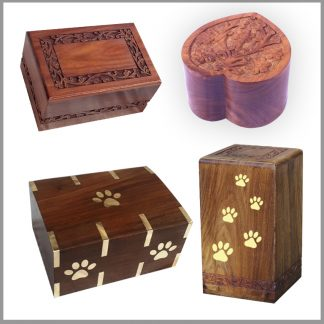 Wooden Urns for Pet Ashes