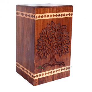 wood funeral urns for ashes