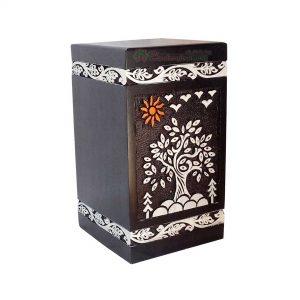 Wood Burial Urns For Ashes, Wooden Casket Urn, Decorative Memorials Box, Funeral keepsake