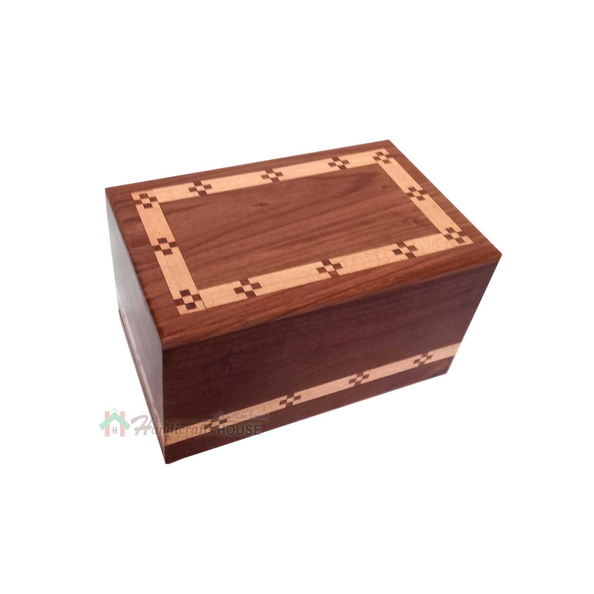 Human Ashes Urns, Funeral Casket, Wood Burial Box, Memorials Keepsake Urns For Adult