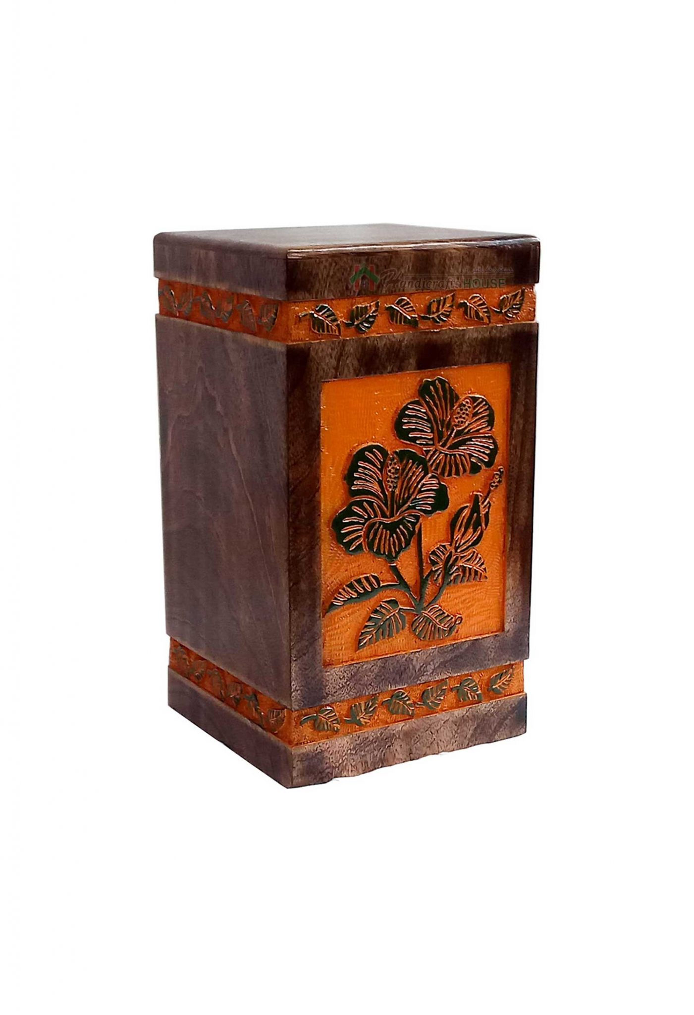 Wood Casket Urn, Memorials Urns For Ashes, Burial Keepsake, Wooden Adult Box