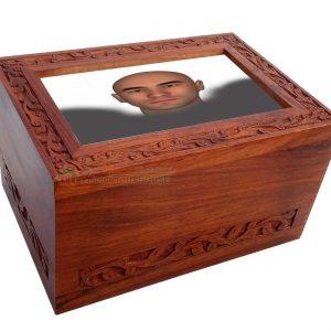 Wooden Memorials Keepsake Urn For Ashes - Wood Casket