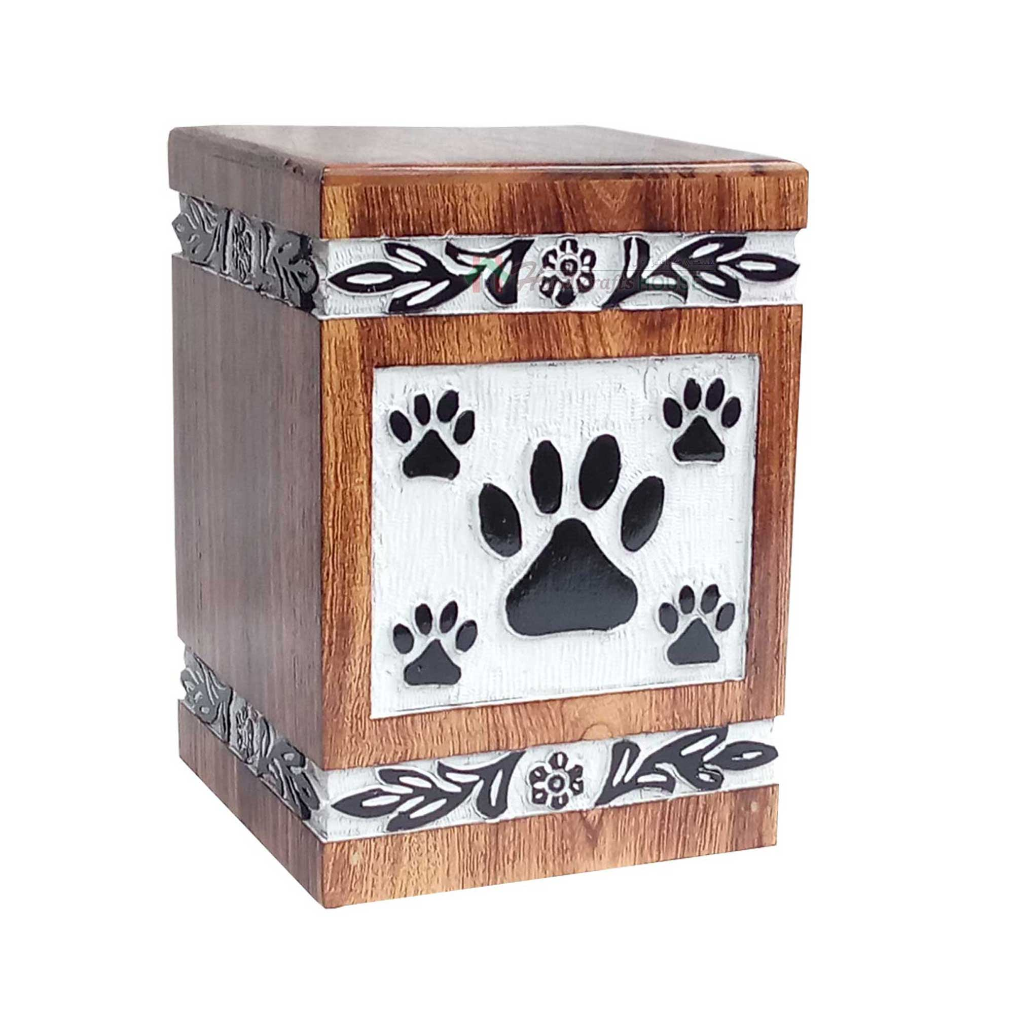 Wooden Box For Pet Ashes, Memorials Keepsake Wood Urns, Funeral Cats Urns, Burial Boxes