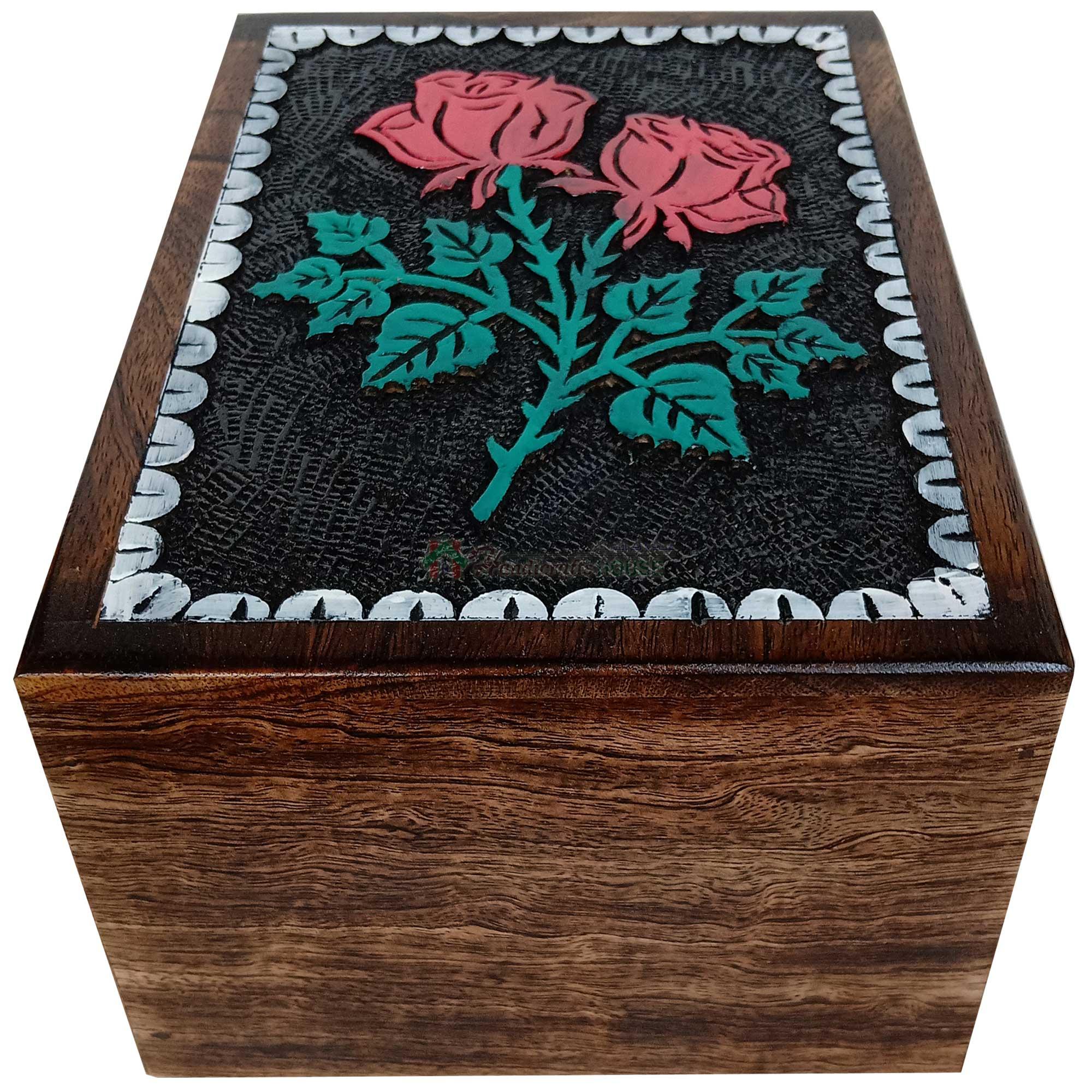 flower engraving urns