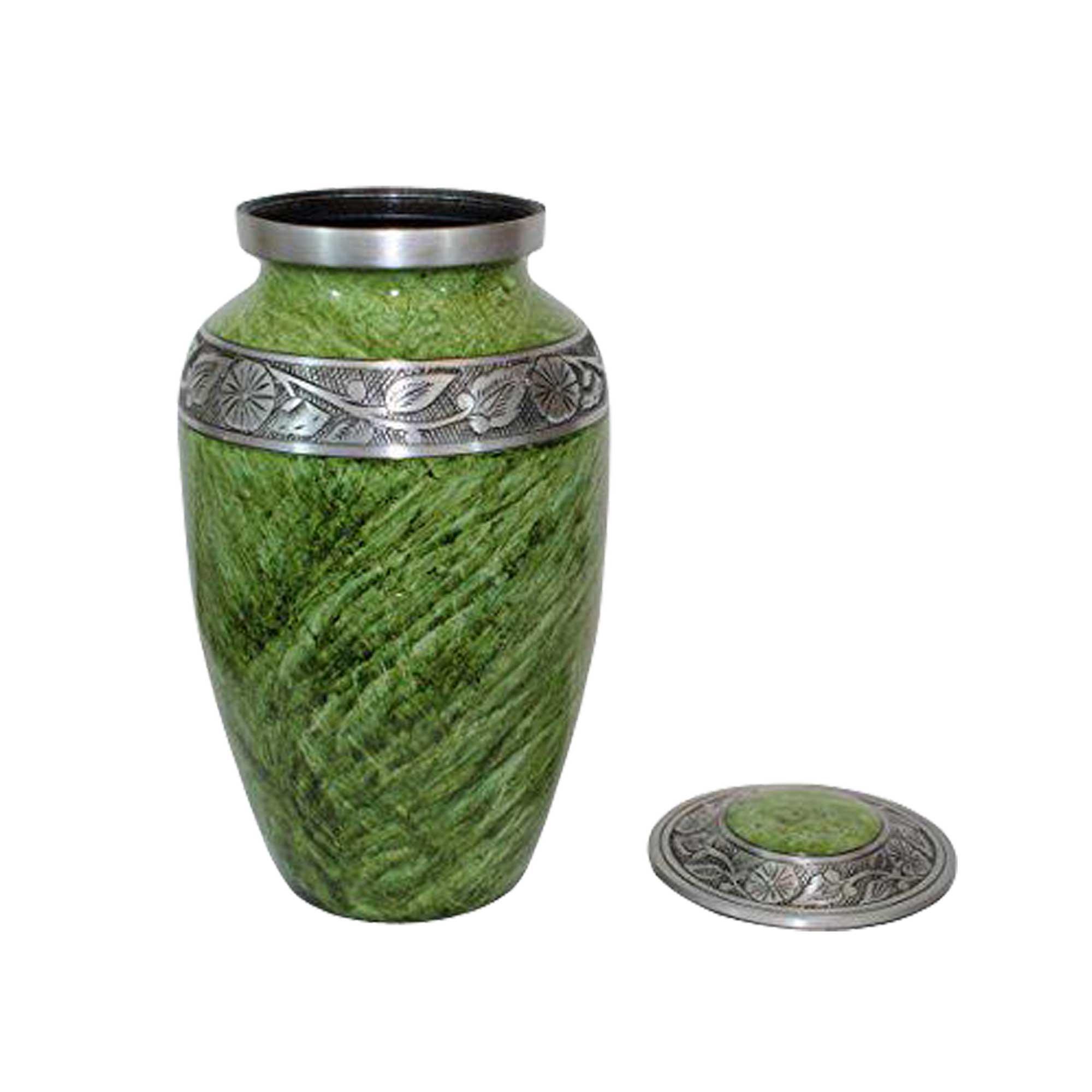 decorative casket, metal urn